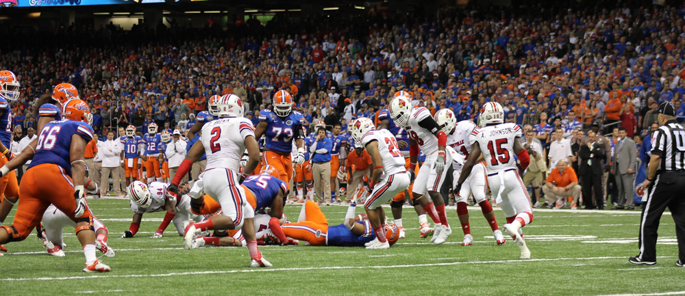 2013 Sugar Bowl Louisville vs. Florida Photo by Mike Lindsay