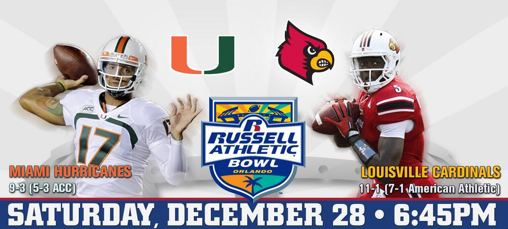 Russell Athletic Bowl: Louisville vs. Miami Stat Comparison