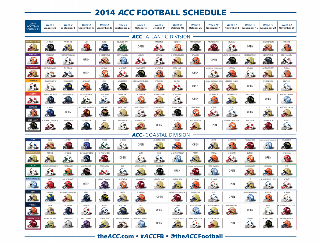 Louisville Releases 2014-15 Football Schedule- Year 1 of ACC Membership – The Crunch Zone