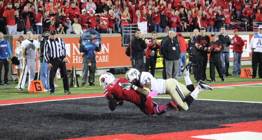 Eli Rogers Louisville vs. UCF 2013 Photo by Mike Lindsay
