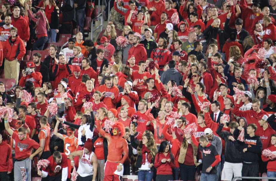 Louisville Football Fans Student Section Photo by Mike Lindsay