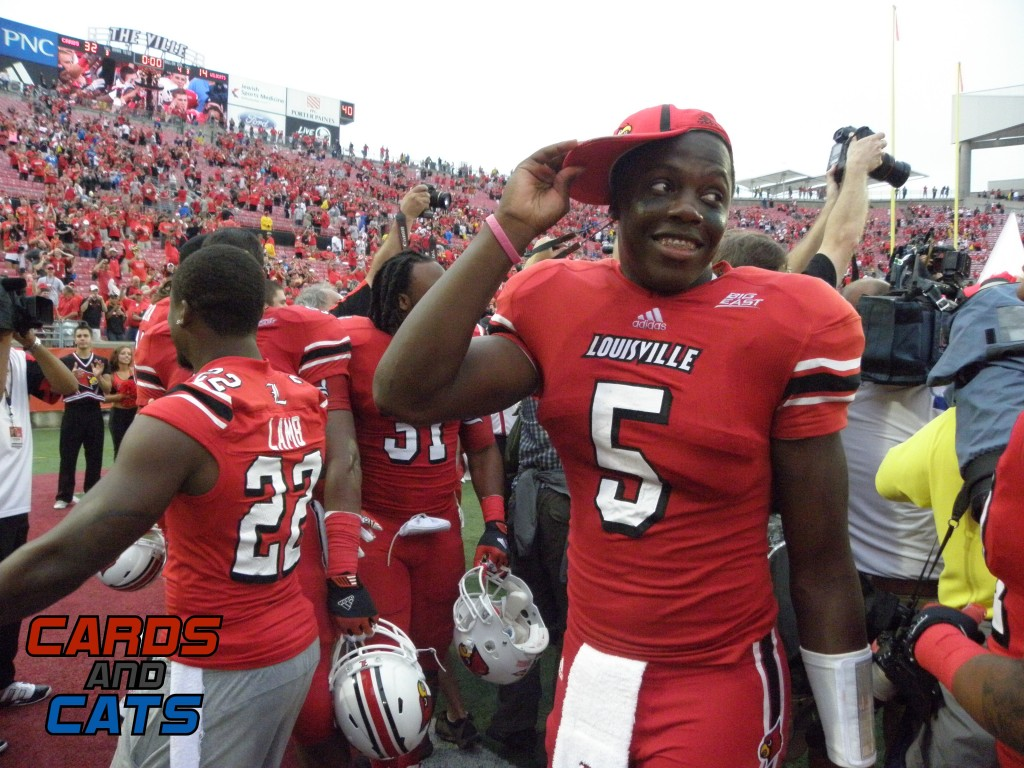 Teddy Bridgewater 2012 Governor's Cup Louisville vs. Kentucky Photo by Connor Galle