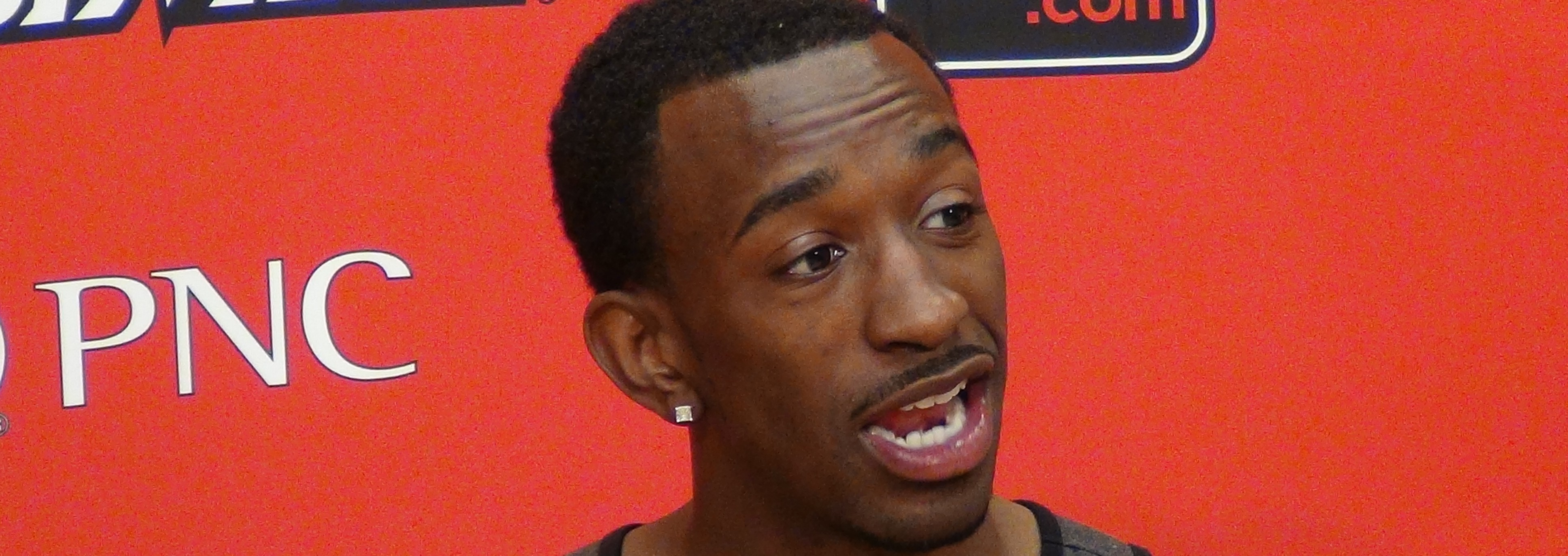Russ Smith on 2014 Draft Night Gives Interview about getting selected by Philadelphia 76ers and then traded to the New Orleans Pelicans Photo by Mark Blankenbaker