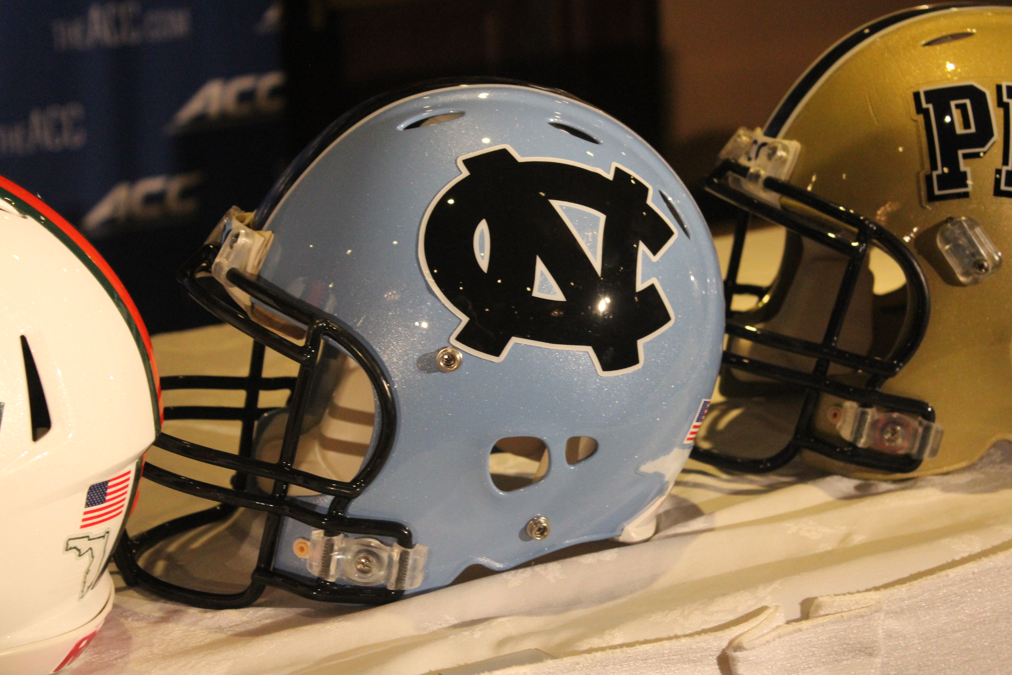 North Carolina (UNC) Helmet 2014 ACC Kickoff Photo by Mark Blankenbaker