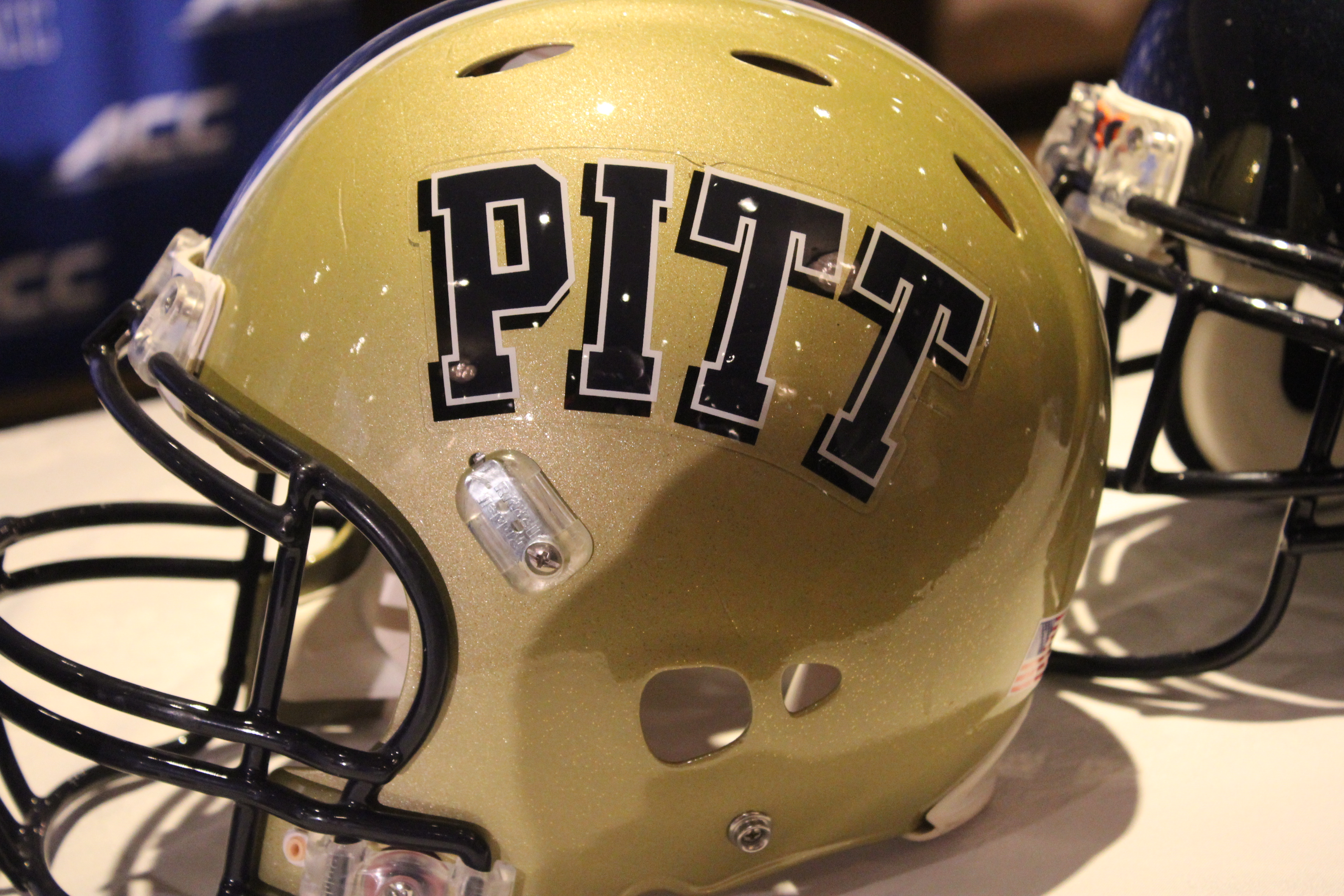 Pitt Helmet 2014 ACC Kickoff Photo by Mark Blankenbaker