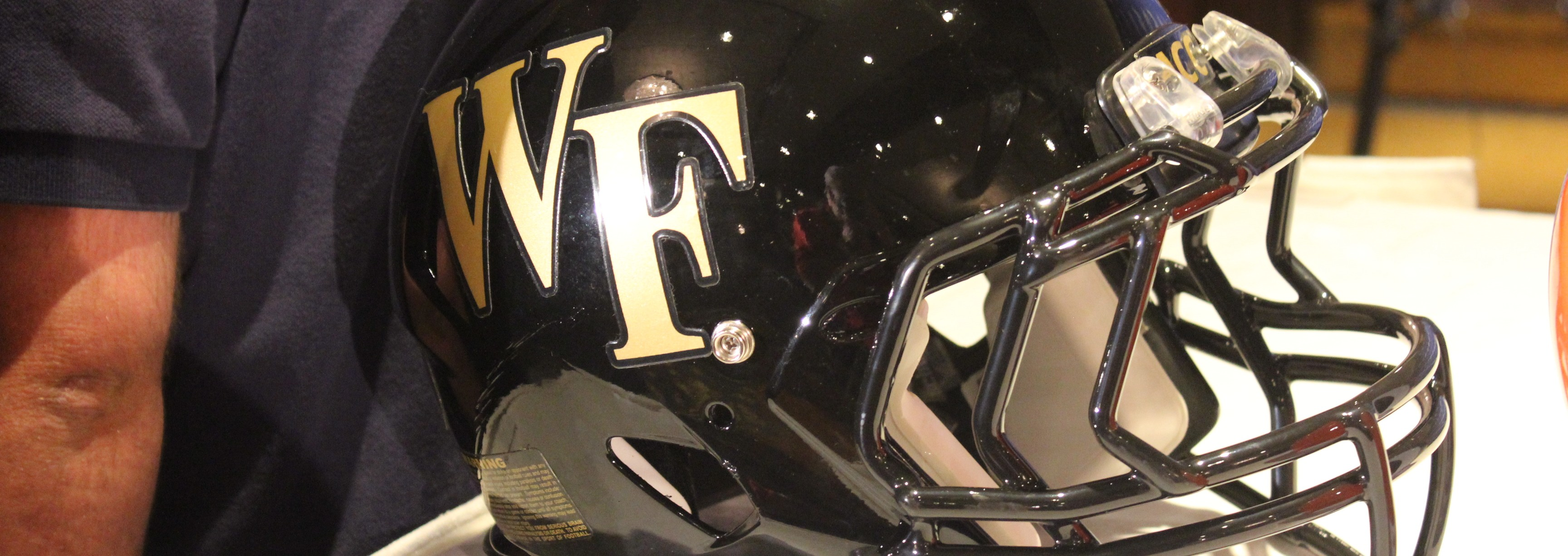 Wake Forest Helmet 2014 ACC Kickoff Photo by Mark Blankenbaker Fitted
