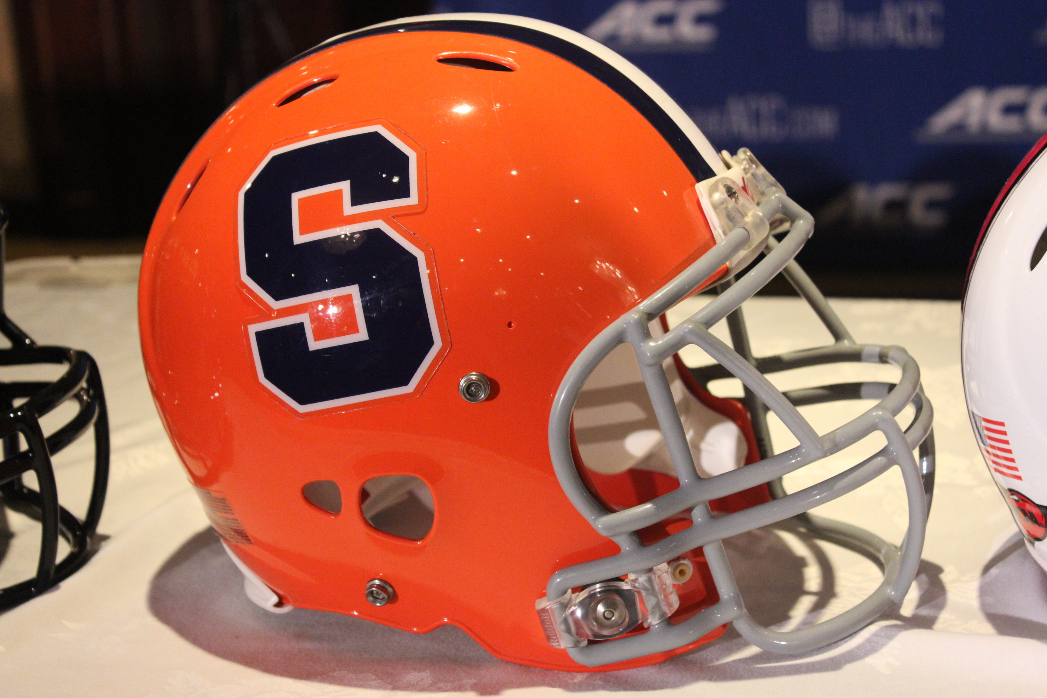 Syracuse Helmet 2014 ACC Kickoff Photo by Mark Blankenbaker