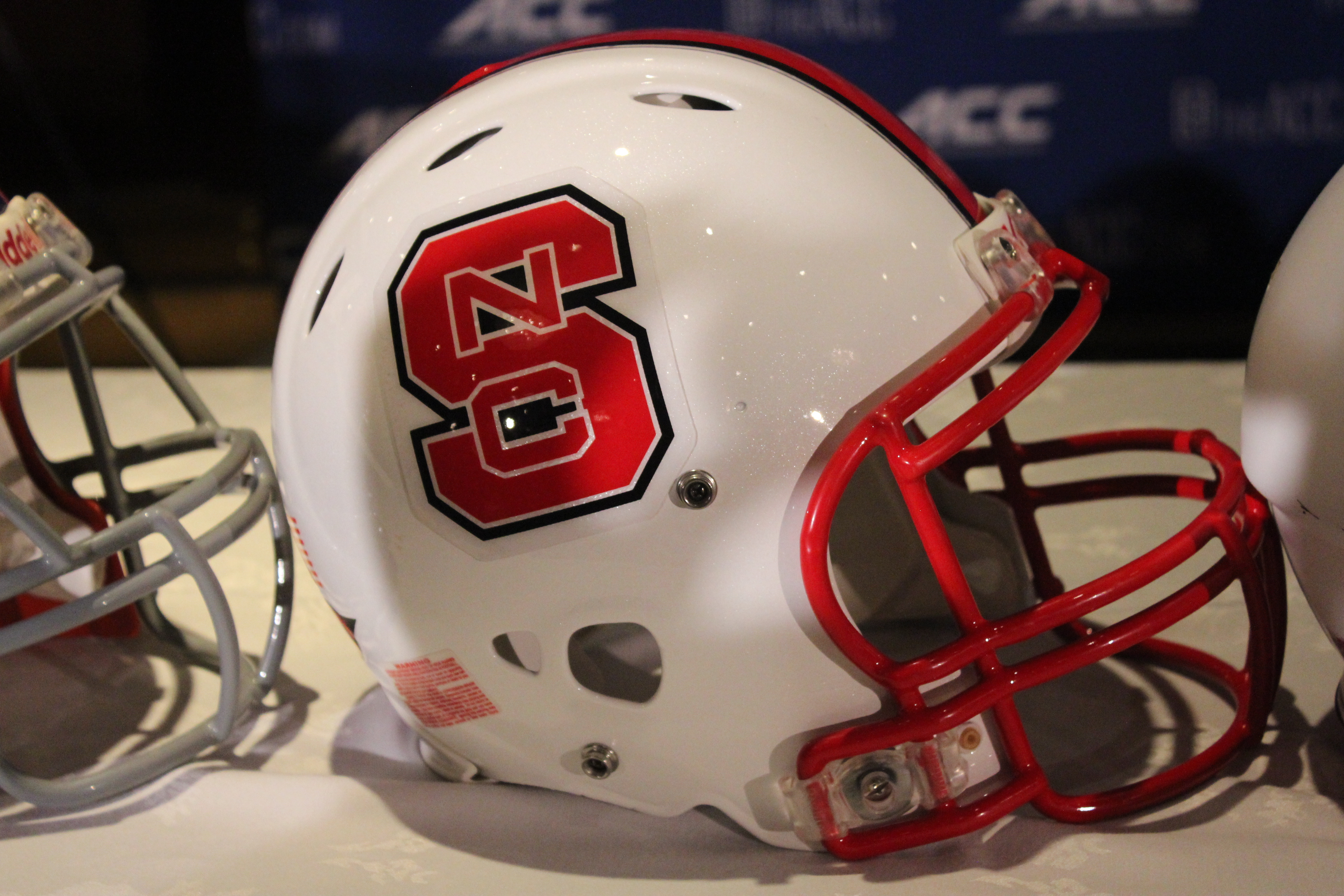 North Carolina State (NC State) Helmet 2014 ACC Kickoff Photo by Mark Blankenbaker