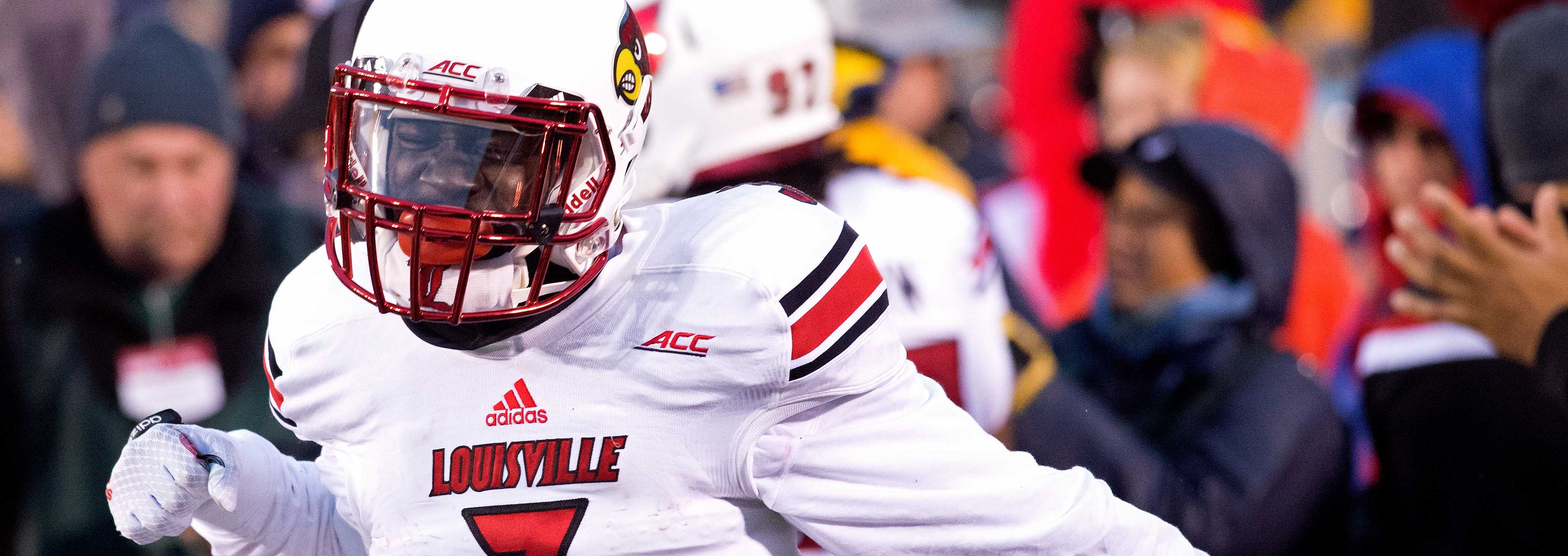 Charles Gaines Louisville vs. Notre Dame Photo by Adam Creech 11-22-2014 Fitted
