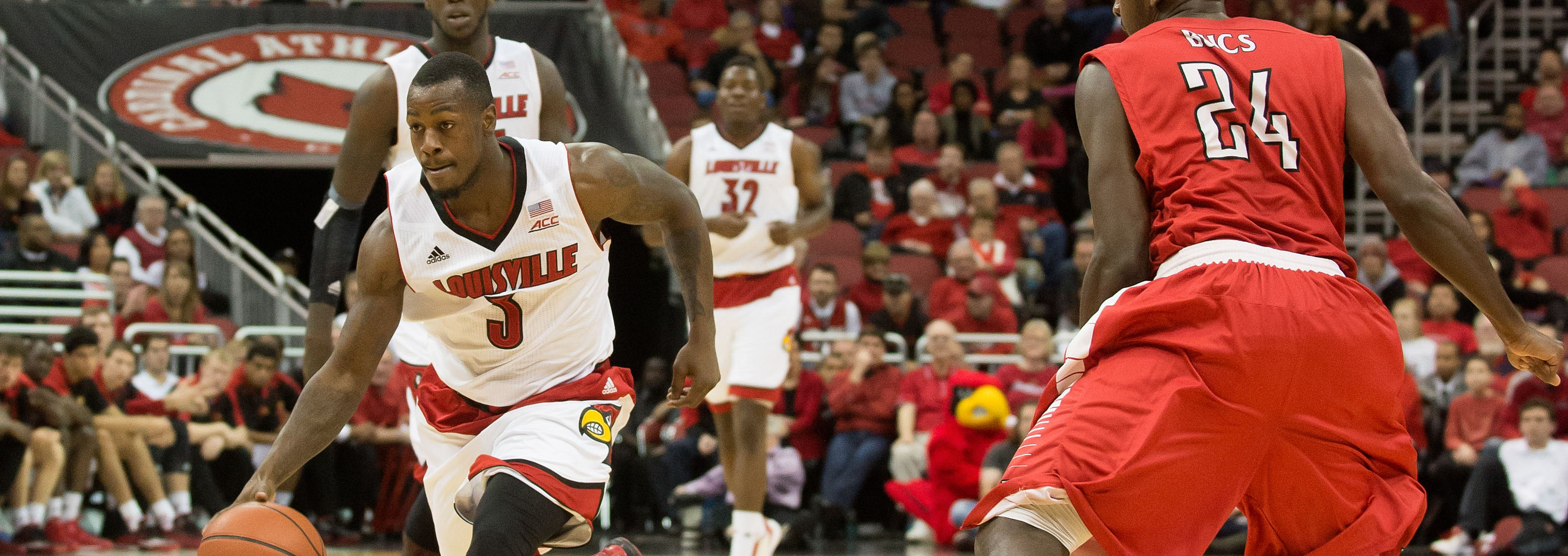 Chris Jones Louisville vs. Barry 11-1-2014 Photo by Adam Creech Fitted
