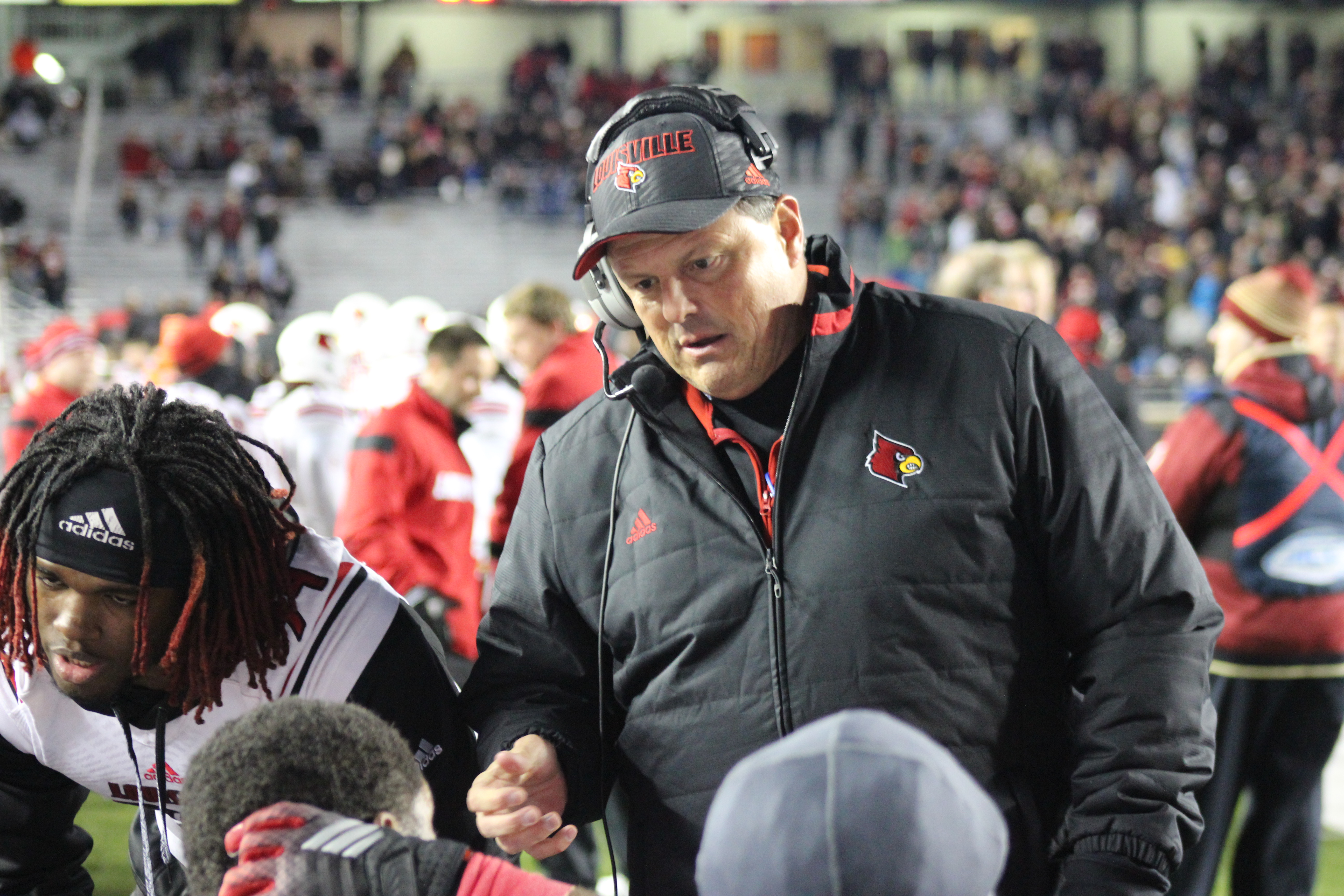 Todd Grantham Louisville vs. Boston College 11-8-2014 Photo By Mark Blankenbaker