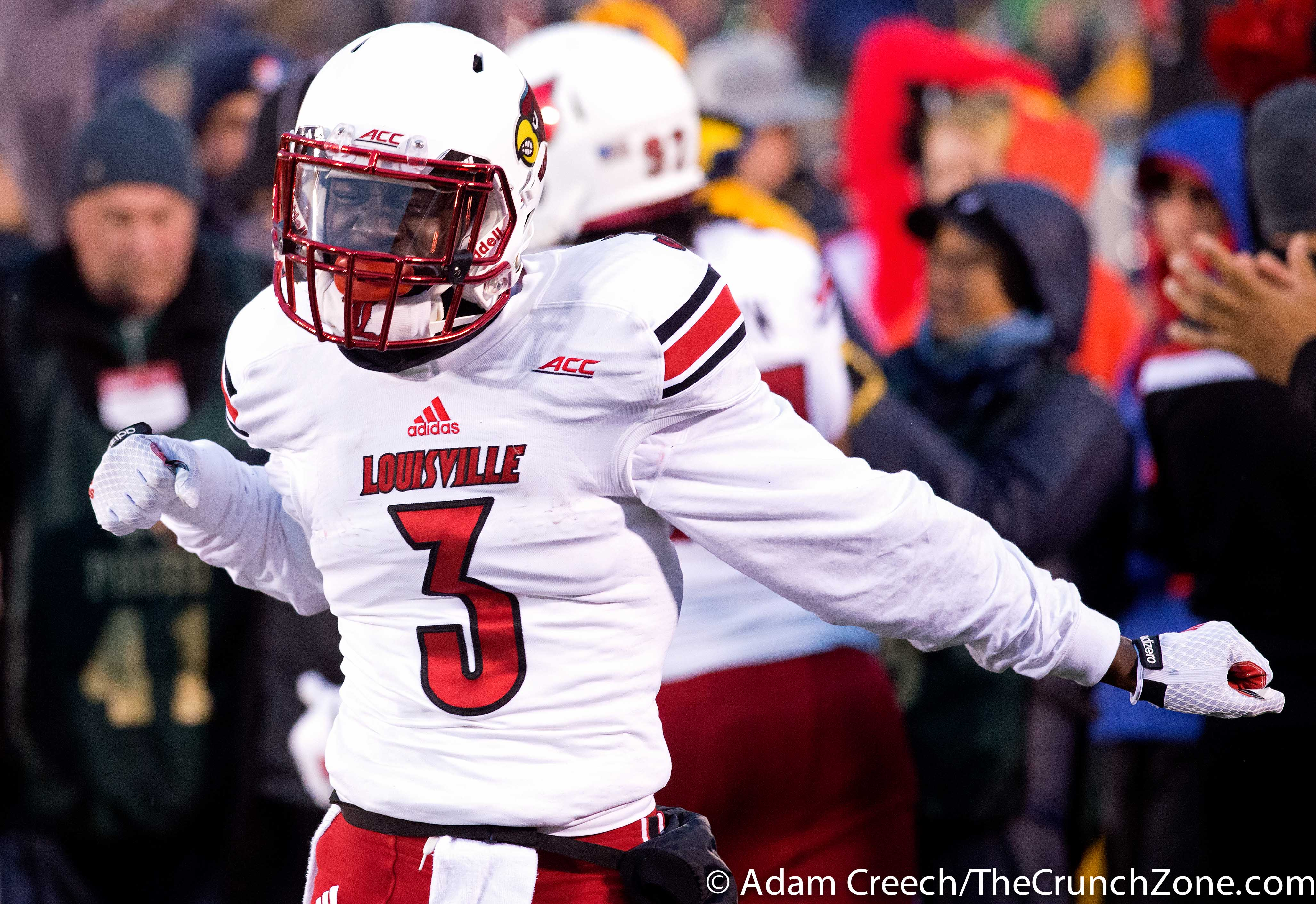 Charles Gaines Louisville vs. Notre Dame Photo by Adam Creech