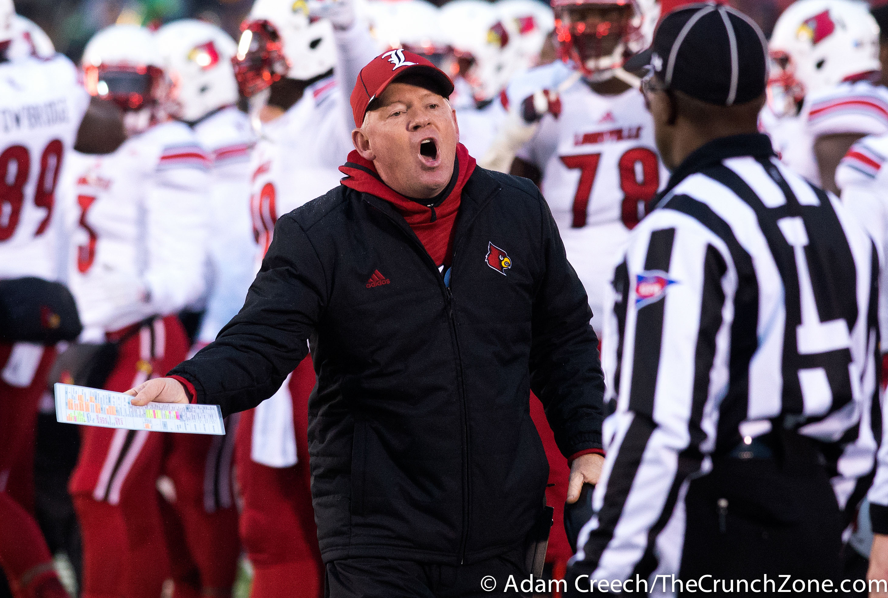Bobby Petrino Louisville vs. Notre Dame Photo by Adam Creech