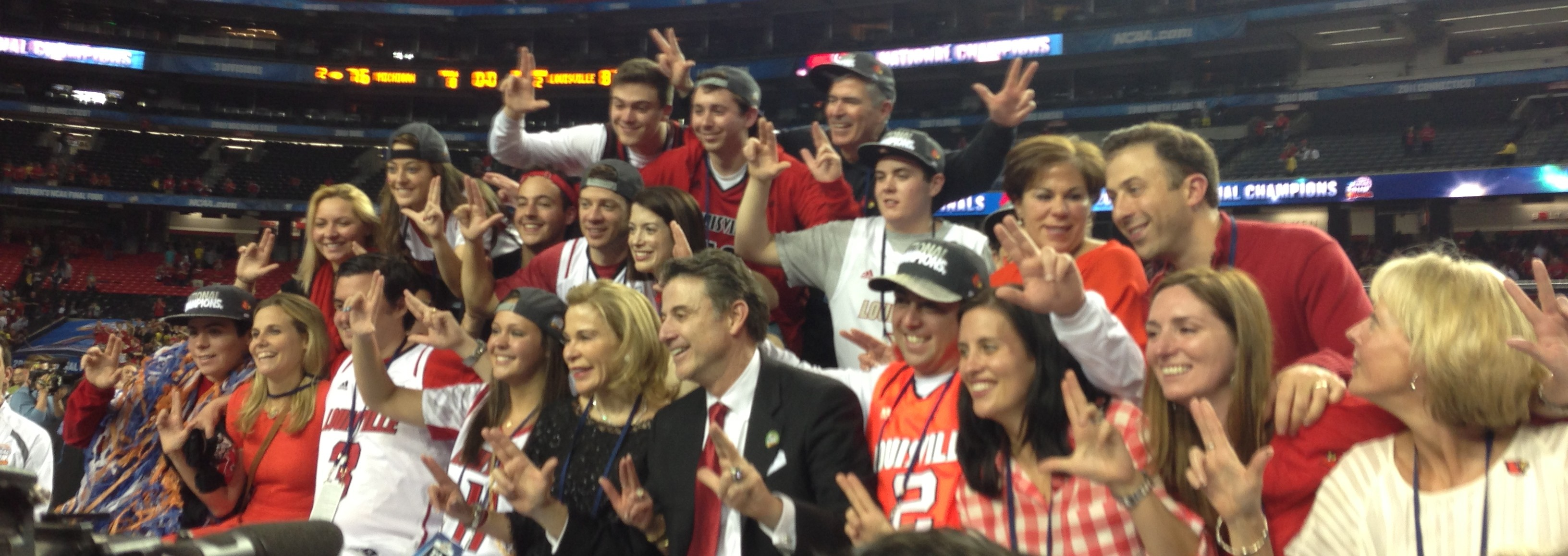 Pitino Family 2013 National Championship Photo by Mark Blankenbaker