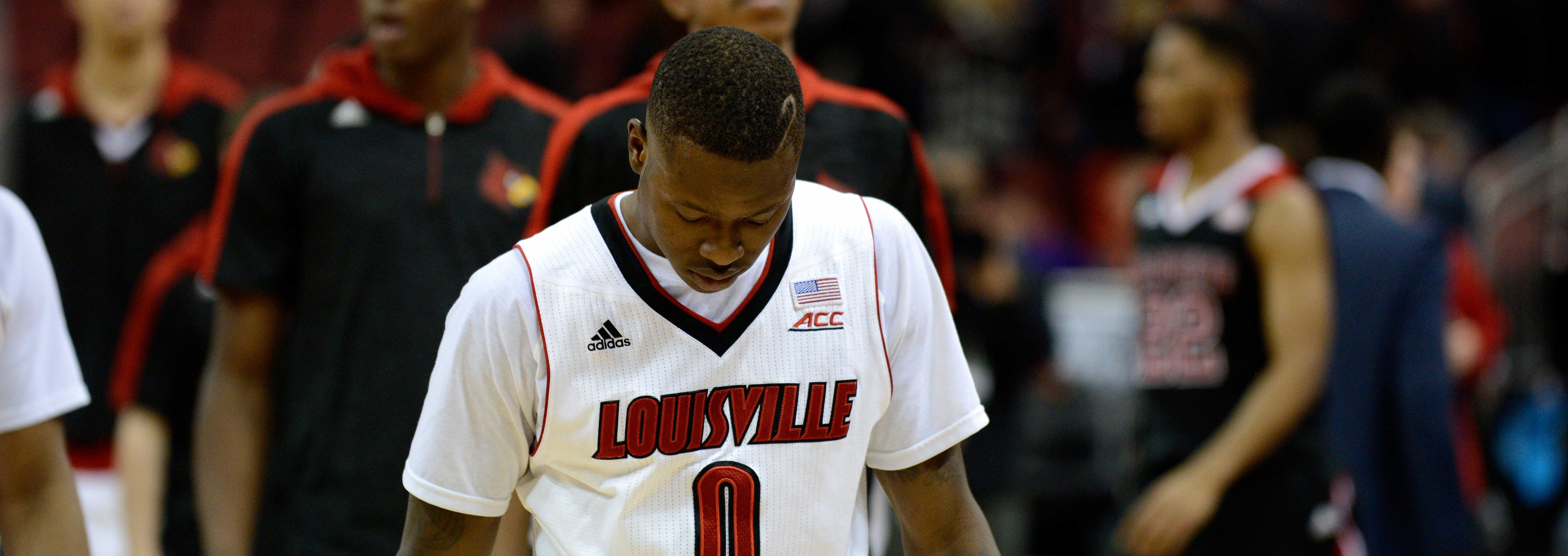Terry Rozier Louisville vs. NC State 2-14-2015 Photo by Adam Creech Fitted