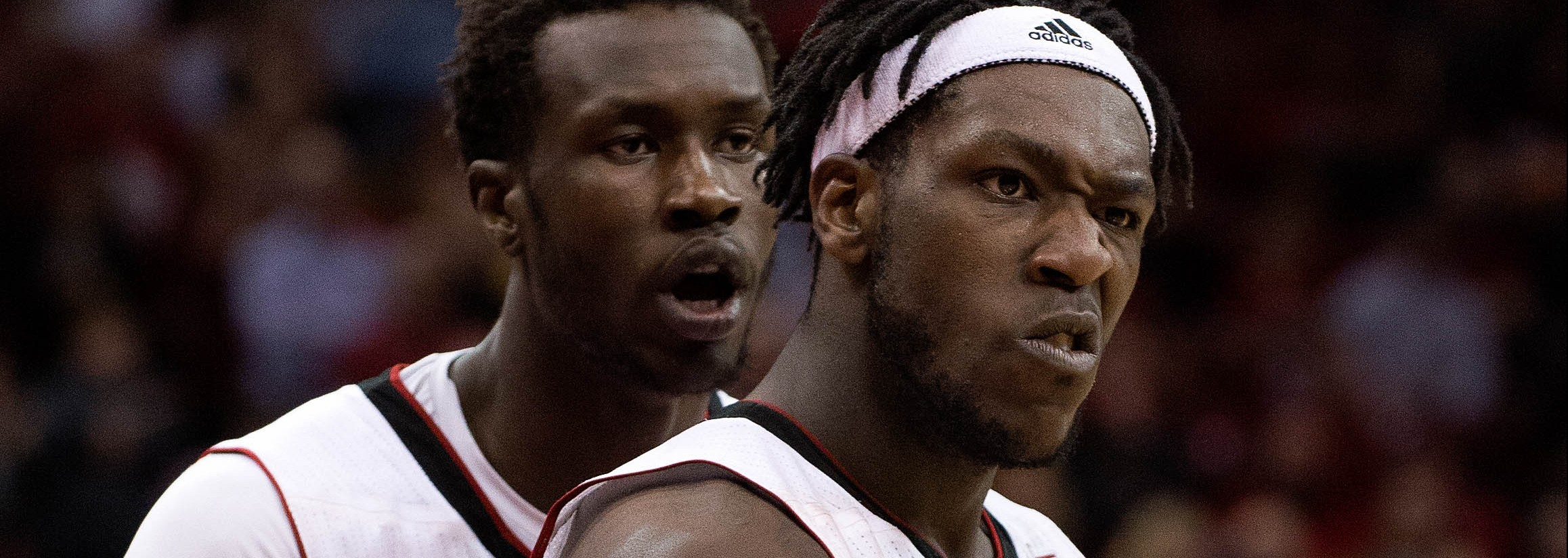 Montrezl Harrell, Mangok Mathiang Louisville vs. Pittsburgh 2-11-2015 Photo by Adam Creech Fitted