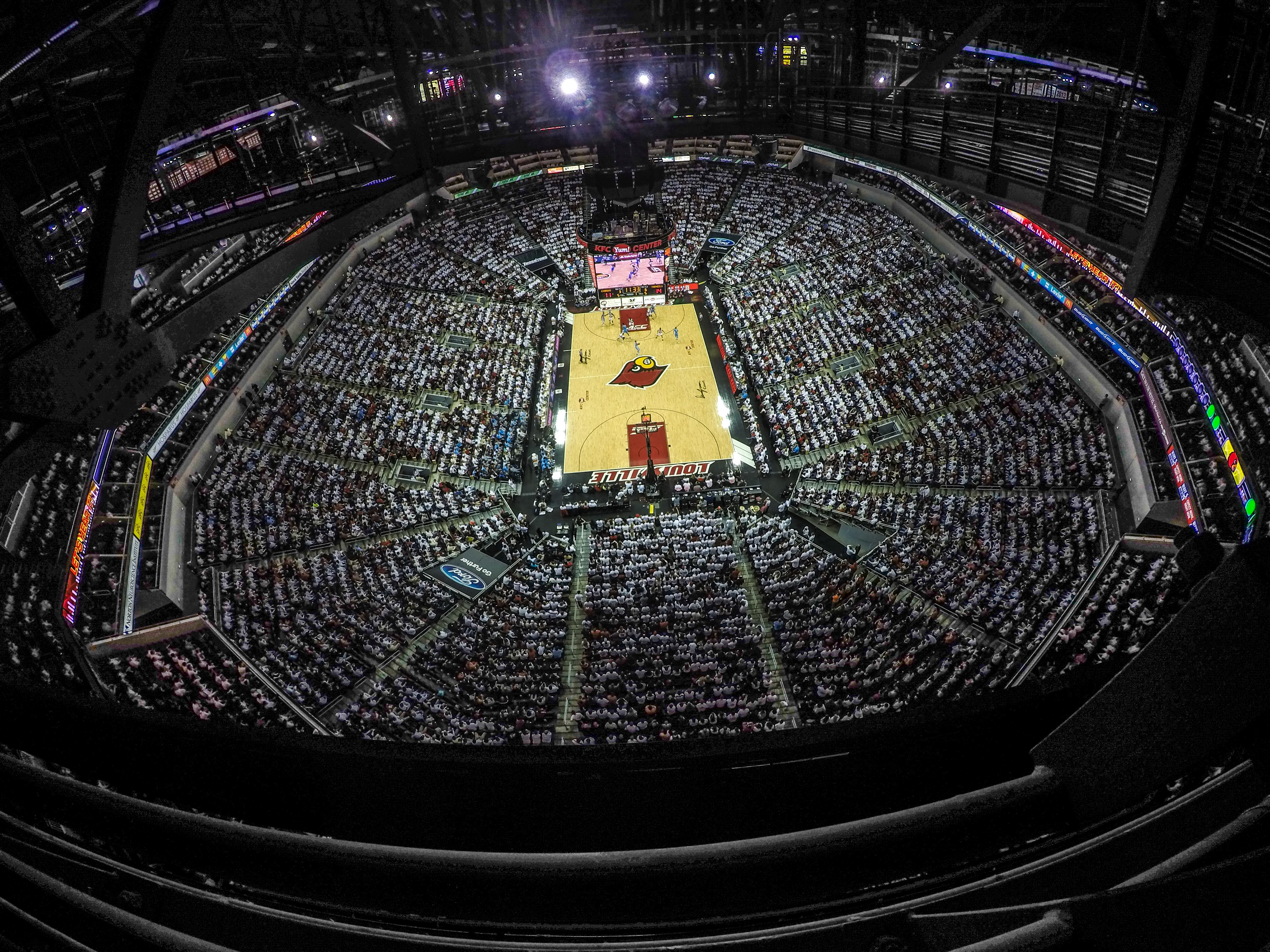 WHITEOUT Louisville vs. North Carolina 1-31-2015 Photo by Seth Bloom