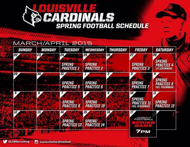 Louisville Football Spring Schedule 2015