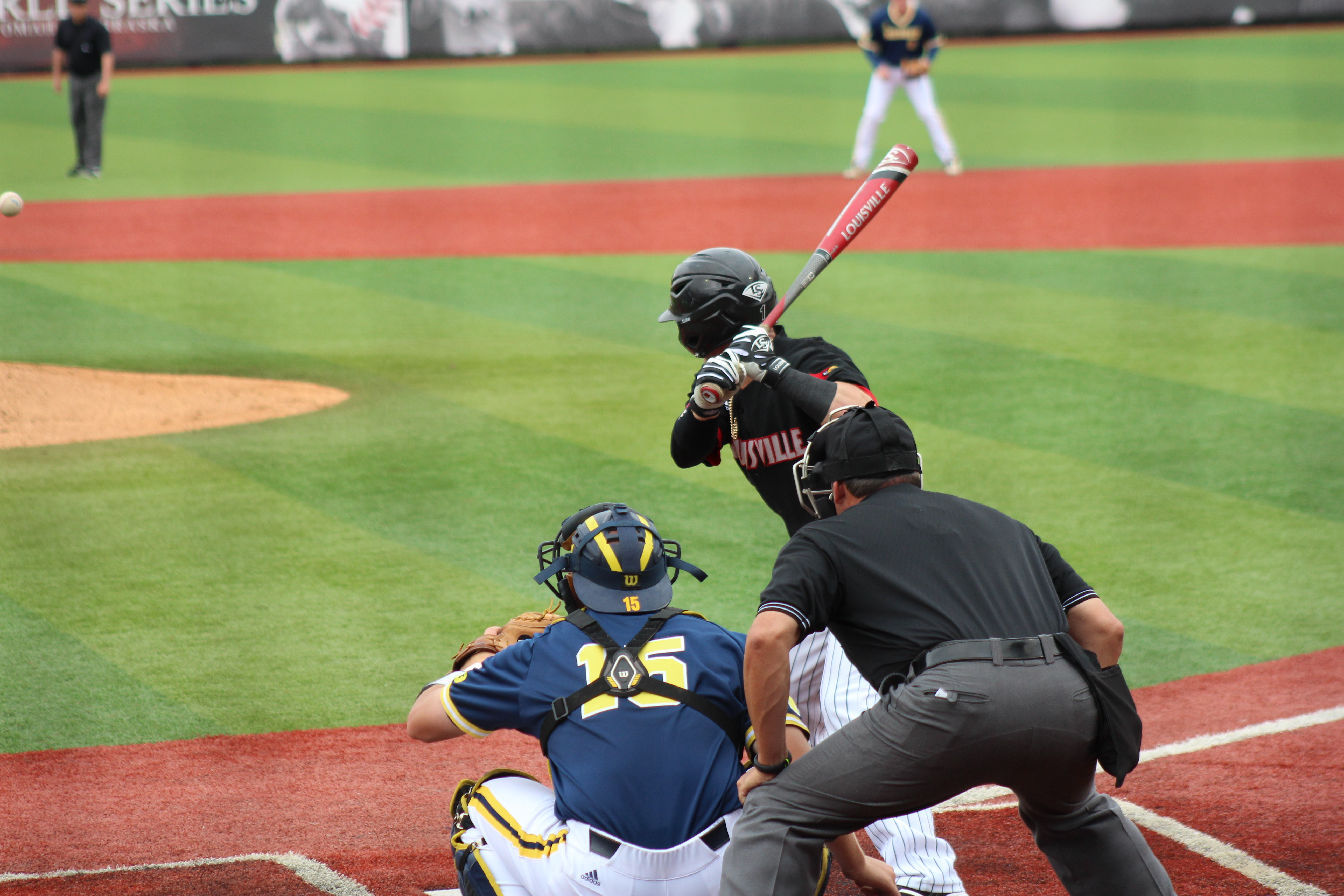 Louisville vs. Michigan 5-31-15 Jim Patterson Stadium Photo by Mark Blankenbaker