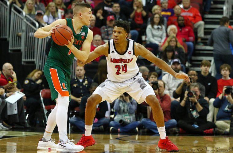 Dwayne Sutton Louisville vs. Miami 1-6-2019 Photo by William Caudill, TheCrunchZone.com