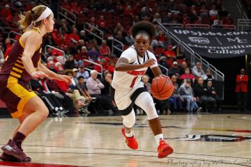 Dana Evans Louisville vs. Central Michigan 11-14-2019 Photo by William Caudill, TheCrunchZone.com