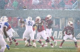 Jawon Pass, Linwood Foy, Jeremy Smith (Football) Louisville vs. Indiana State, 9-8-2018. Photo by William Caudill, TheCrunchZone.com