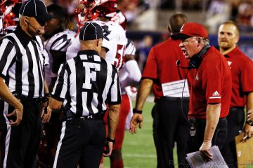 Bobby Petrino, official, referee Louisville vs. Alabama 51-14, 9-1-2018. Photo by William Caudill, TheCrunchZone.com