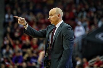 Chris Mack Louisville vs. Lipscomb 12-12-2018 Photo by William Caudill, TheCrunchZone.com