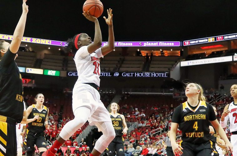 Jazmine Jones Louisville vs. Northern Kentucky 12-15-2018 Photo by William Caudill, TheCrunchZone.com