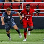 Cherif Dieye Louisville Soccer vs. UC Irvinie Photo by William Caudill 8-25-2017, TheCrunchZone.com