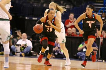 Asia Durr Louisville vs. Baylor NCAA Sweet 16 3-24-2017, Oklahoma City, OK Photo by William Caudill