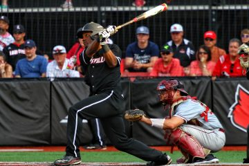 Josh Stowers Louisville Baseball vs. Florida State 5-18-2017 Photo by William Caudill at Louisville Slugger Field TheCrunchZone.com