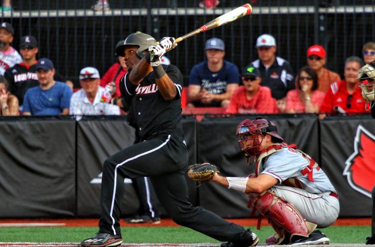 Josh Stowers Louisville Baseball vs. Florida State 5-18-2017 Photo by William Caudill at Louisville Slugger Field TheCrunchZone.com