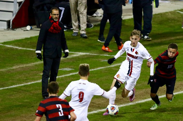 Daniel Johnson, Ken Lolla, Tate Schmitt Louisville vs. Stanford (NCAA Soccer) 12-3-2016 Photo by William Caudill TheCrunchZone.com