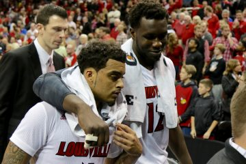 Quentin Snider, Mangok Mathiang Louisville vs. Duke 1-14-2017 Photo By William Caudill TheCrunchZone.com