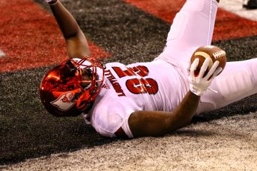 Jordan Davis TD Louisville vs. Purdue 9-2-2017 Photo by William Caudill, TheCrunchZone.com