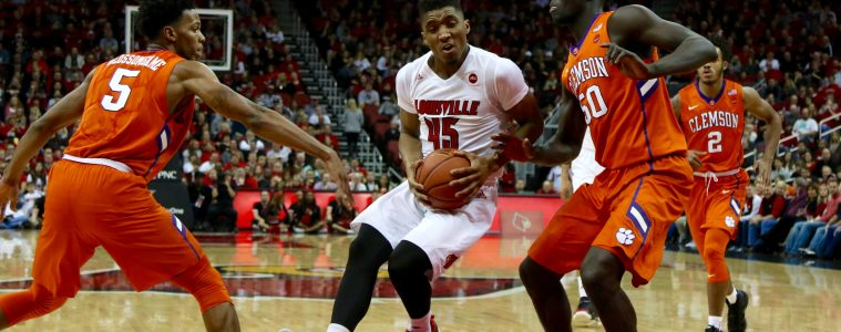 Donovan Mitchell Louisville vs. Clemson 1-19-2017 Photo By William Caudill TheCrunchZone.com