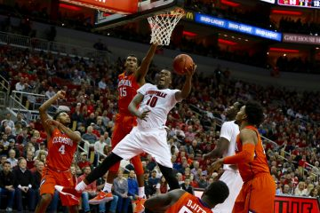 Jaylen Johnson Louisville vs. Clemson 1-19-2017 Photo By William Caudill TheCrunchZone.com