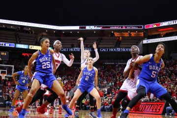 Sam Fuehring Louisville vs. Duke 1-4-2018 Photo by William Caudill, TheCrunchZone.com