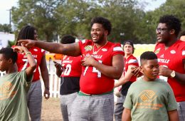 Geron Christian, Kenny Thomas Citrus Bowl Louisville vs. LSU Kids Day 12-29-2016 Photo by William Caudill TheCrunchZone.com