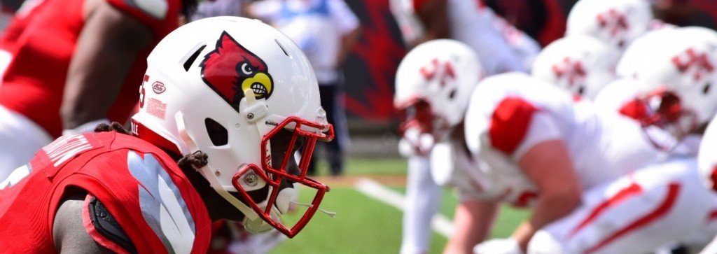 Trumaine Washington Louisville vs. Houston Photo by Seth Bloom 9-12-2015 Fitted