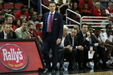 Rick Pitino vs. Wake Forest 1-3-2016 Photo by William Caudill
