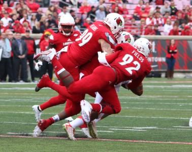 Devonte Fields, James Hearns Louisville vs. Syracuse 11-7-2015 Photo by William Caudill