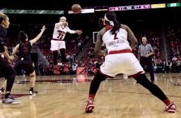 Briahanna Jackson, Myisha Hines-Allen Louisville vs. Virginia Tech 1-7-2016 Photo by Samantha Caudill