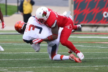 James Burgess Louisville vs. Syracuse 11-7-2015 Photo by William Caudill