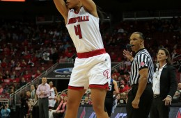 Mariya Moore Louisville vs. Duke 1-10-2016 Photo by William Caudill