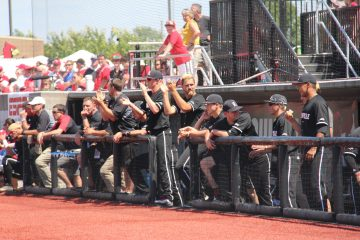 Dugout Louisville Baseball vs. Kentucky NCAA Super Regional 6-10-2017 Photo by Mark Blankenbaker TheCrunchZone.com