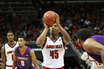 Donovan Mitchell Louisville vs. Evansville 11-11-2016 Photo by William Caudill TheCrunchZone.com