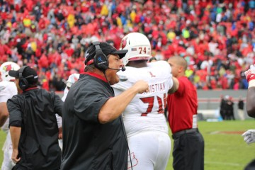 Todd Grantham Louisville vs. NC State 10-3- 2015 Photo by Mark Blankenbaker