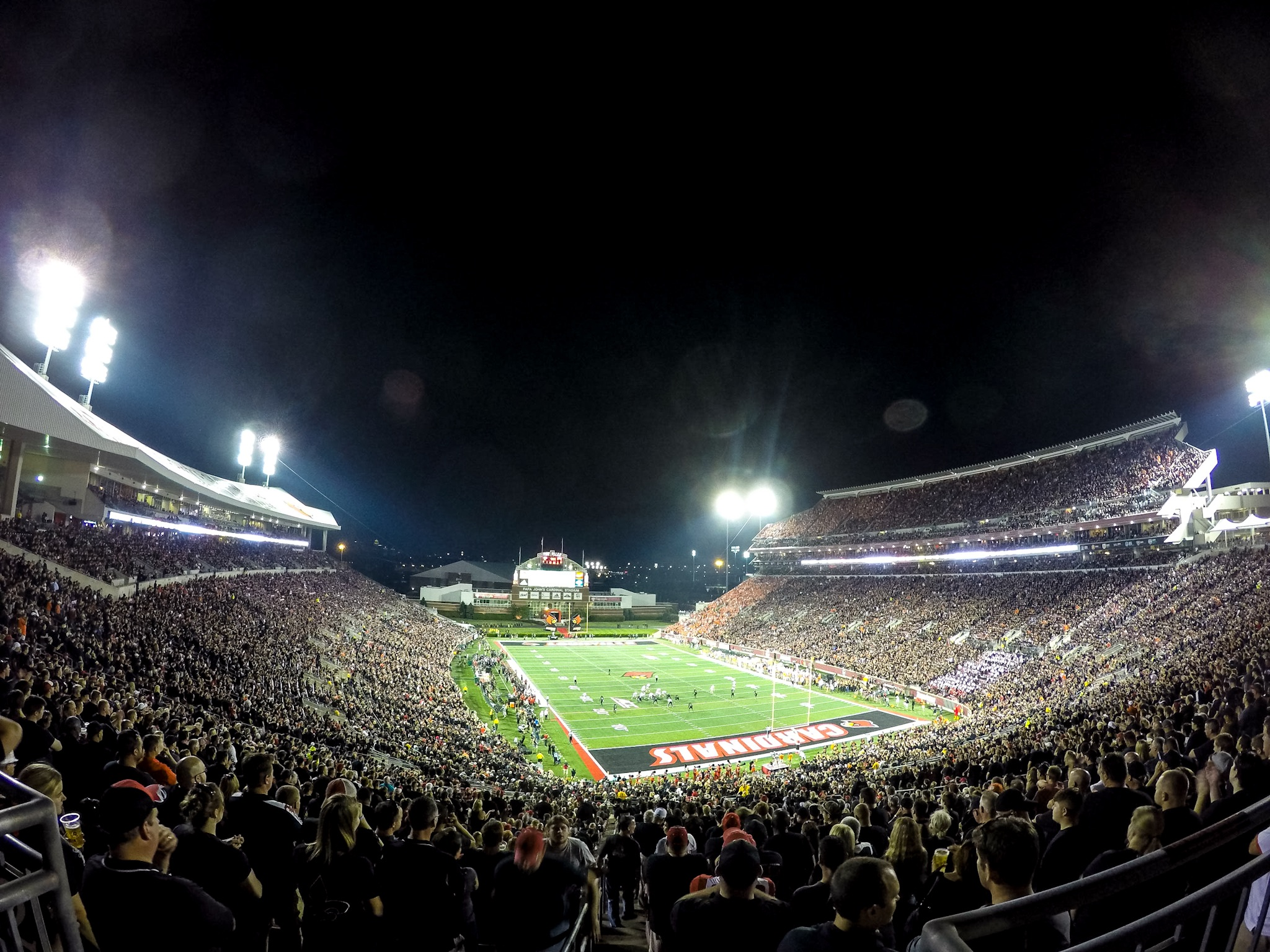 Papa Johns Cardinal Stadium BLACKOUT Louisville vs. Clemson 9-17-2015 Photo by Seth Bloom